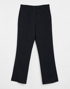 Черные классические брюки прямого кроя ASOS DESIGN-Черный цвет
