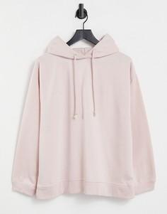 Бледно-розовый оversized-худи Topshop-Розовый цвет