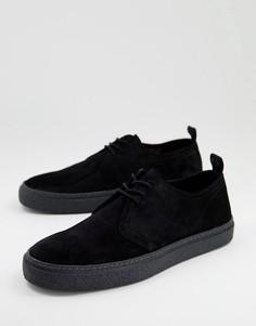 Черные замшевые туфли Fred Perry Linden-Черный цвет