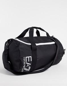 Черная спортивная сумка с логотипом Armani EA7 Train Core-Черный цвет