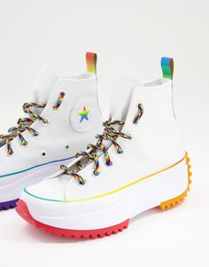 Белые кроссовки Converse Run Star Hike PRIDE-Multi