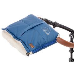 Муфта меховая для коляски Nuovita Siberia Lux Bianco Blu scuro, Темно-синий