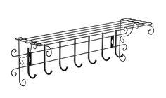 Настенная вешалка Грация 790 Черный, металл/Черный, пластик Sheffilton