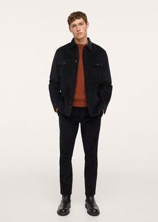 Укороченные брюки tapered fit из вельвета - Berdam Mango