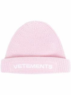 VETEMENTS шапка бини с вышитым логотипом