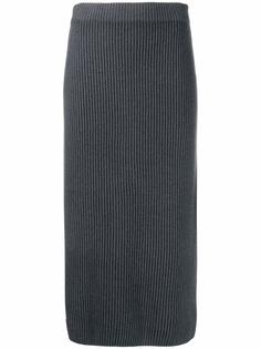 Iris Von Arnim кашемировая юбка в рубчик