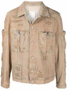 Givenchy джинсовая куртка с эффектом потертости и нашивками