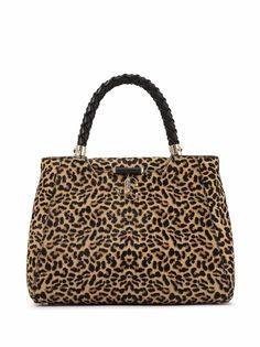 Jimmy Choo сумка-тоут Varenne с леопардовым принтом