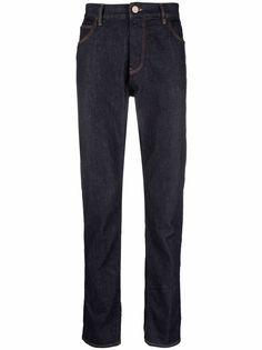 Giorgio Armani узкие джинсы с пятью карманами