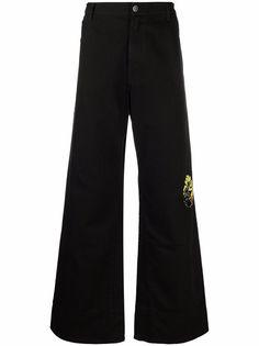 Raf Simons широкие джинсы с графичным принтом