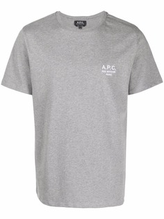 A.P.C. футболка Rue Madame с логотипом