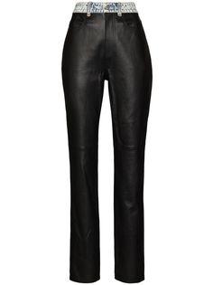 Alexander Wang брюки с джинсовым поясом