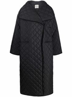 Totême стеганое однобортное пальто