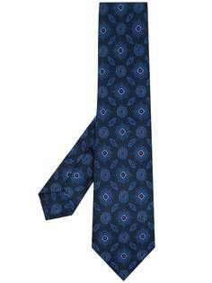 Kiton шелковый галстук с узором