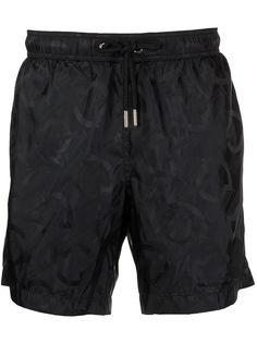 Moncler плавки-шорты с монограммой