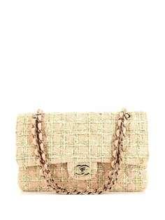 Chanel Pre-Owned твидовая сумка на плечо с логотипом CC
