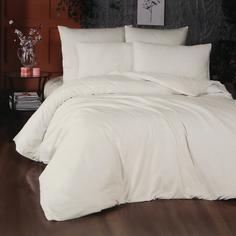 Комплект постельного белья La Besse Ранфорс кремовый Евро