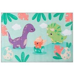 Ковер Крошка Я Динозаврики (4982213), размер: 1.2х0.8 м, зеленый/голубой