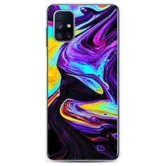 Чехол Силиконовый Samsung Galaxy M31s Фиолетовый флюид арт Case Place