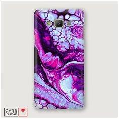 Чехол Пластиковый Samsung Galaxy A5 Розовый флюид арт Case Place