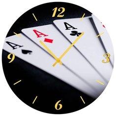 SvS Настенные часы SvS 3001649 4 туза СВС