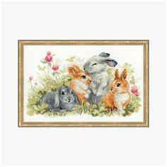 Набор для вышивания RIOLIS Сотвори Сама 1416 Забавные крольчата 21 х 265 см 1 шт. Риолис