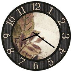SvS Настенные часы SvS 3503074 Листья на бумаге СВС