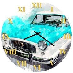 SvS Настенные часы SvS 3002275 Ретро-авто в краске СВС