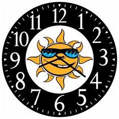 SvS Настенные часы SvS 4002742 Солнце в очках СВС