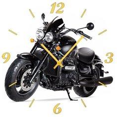 SvS Настенные часы SvS 3001974 Мотоцикл на белом фоне СВС