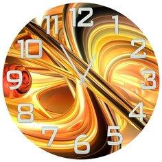 SvS Настенные часы SvS 4001633 Черно-золотая абстракция СВС