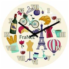 SvS Настенные часы SvS 3001569 Все для путешествия во Францию СВС