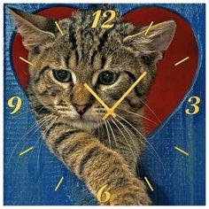 SvS Настенные часы SvS 3501856 Расстроеный кот СВС