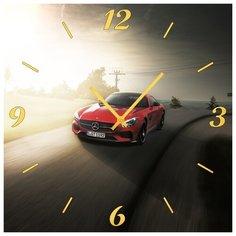 SvS Настенные часы SvS 4001958 Спорт авто на дороге СВС