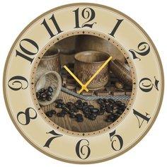 SvS Настенные часы SvS 3002137 Kitchen Чайник с зернами кофе СВС