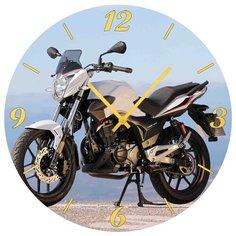 SvS Настенные часы SvS 4001829 Мотоцикл на холме СВС