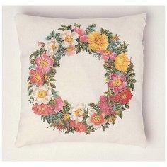 Набор для вышивания, подушка Розы канва Jobelan 27 ct 34 х 34 см THEA GOUVERNEUR 2073