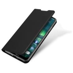 Чехол-книжка MyPads для OnePlus 8 водоотталкивающий с мульти-подставкой на жесткой металлической основе черный