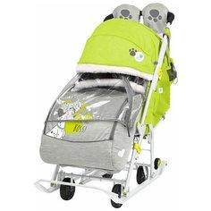 Санки-коляска Nika Disney baby 2 С далматинцами лимонный