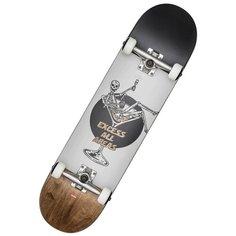 """Скейтборд GLOBE G1 Excess 8.0"""" White/Brown, 31.6x8, черный/серый/коричневый"""