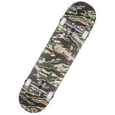"""Скейтборд GLOBE G1 Full On 8.0"""" Tiger Camo, 31.63x8, зеленый/черный/бежевый"""
