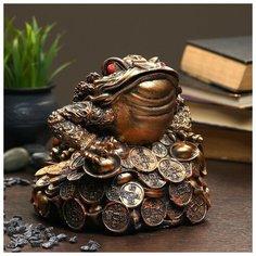 """Хорошие сувениры Фигура """"Жаба на монетах"""" большая 18×18×18см"""
