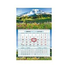 Календарь квартальный 1-блоч на 1 гребне Соло-Люкс бум. мелован. цветной блок с бегунком цветная под Hatber