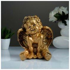 Фигура «Ангел карапуз сидя» бронза 19х22х24см Хорошие сувениры