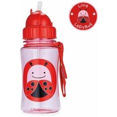 Поильник с трубочкой SKIP HOP Zoo Straw Bottle, 350 мл ladybug