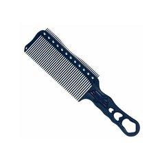 Расческа с ручкой, y.s.park professional зубцами на обушке и направляющей рельсой s282 rt blue