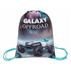 Мешок для обуви BRAUBERG PREMIUM, карман, подкладка, светоотражающие элементы, 43х33 см, Galaxy offroad, 270285