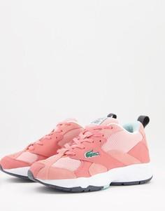 Розовые кроссовки со шнуровкой Lacoste Storm-Розовый цвет