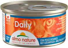 Консервы для кошек Almo Nature Daily Adult, нежный мусс с океанической рыбой, 24шт по 85г