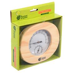Термометр с гигрометром Банная станция 16x14x3 см Банные штучки